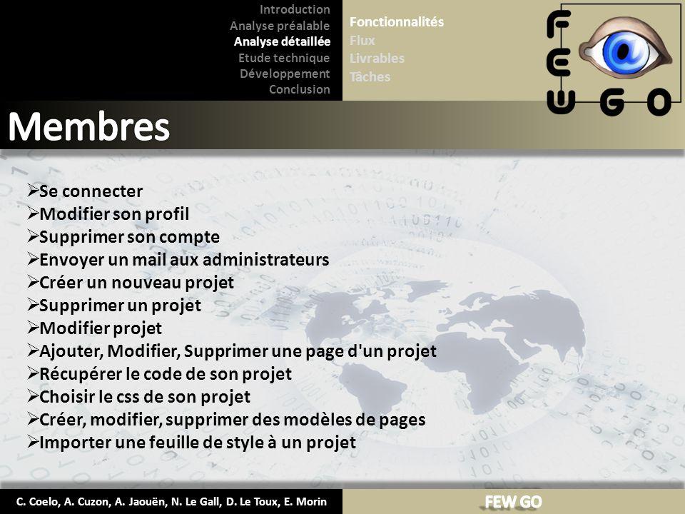 C.Coelo, A. Cuzon, A. Jaouën, N. Le Gall, D. Le Toux, E.