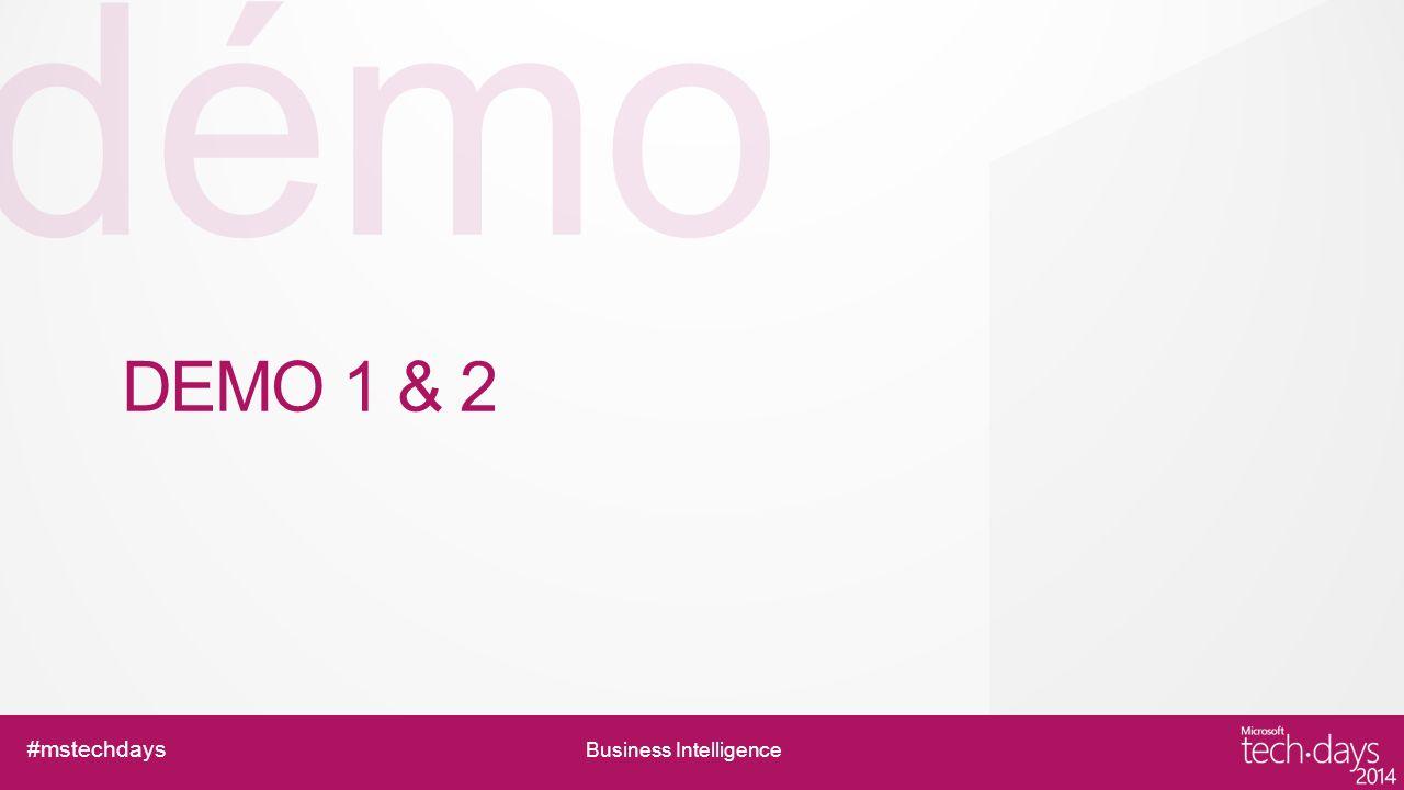 #mstechdays Business Intelligence Analyses avancées en libre-service Powerpivot & Excel Excel Analyse de données rapide et intuitive Création de rapports interactifs Partage des dashboard, scorecards Outil BI par excellence pour le end-user Powerpivot Add-in Excel (à aller chercher sur 2010 ; intégrer en 2013) Mise en place du modèle danalyse de données Consolidation, analyse et exploration sur de gros volumes de données en in-memory Publication dans SP