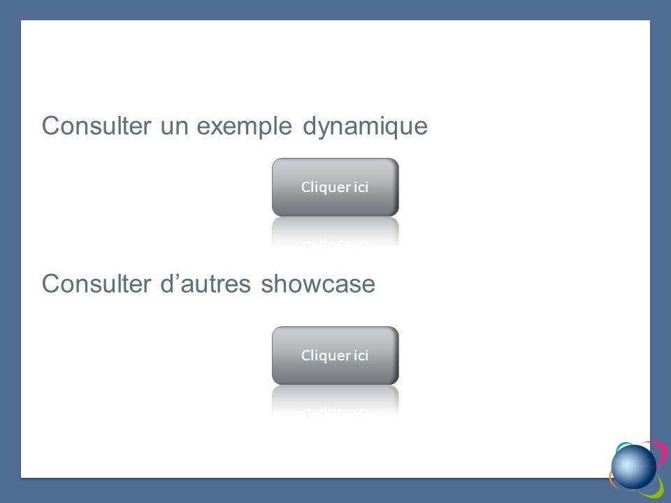 Consulter un exemple dynamique Consulter dautres showcase