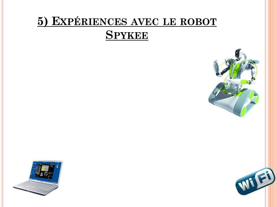 5) E XPÉRIENCES AVEC LE ROBOT S PYKEE