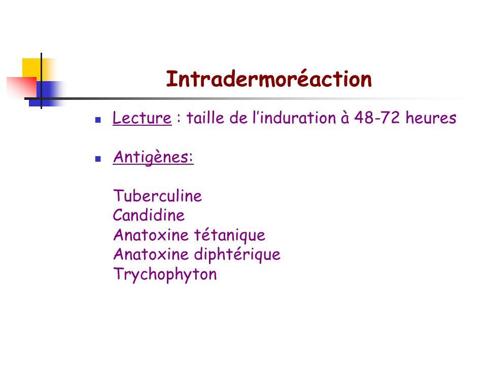 Evaluation fonctionnelle des lymphocytes T Réactions d hypersensibilité retardée Réactions d HSR in vivo Test tuberculinique Test au DNCB