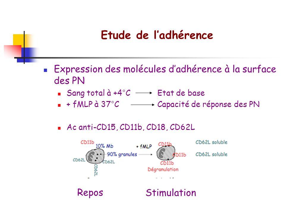 Etude des fonctions des cellules phagocytaires Locomotion Capacité d ingestion Métabolisme oxydatif Bactéricidie Sécrétion de cytokines