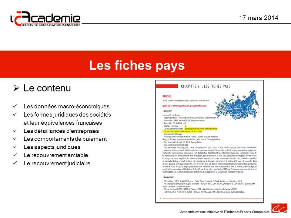 Le contenu Les données macro-économiques Les formes juridiques des sociétés et leur équivalences françaises Les défaillances dentreprises Les comporte