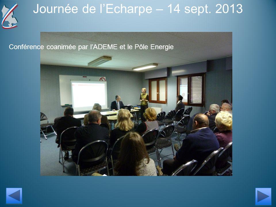 Journée de lEcharpe – 14 sept. 2013 Conférence coanimée par lADEME et le Pôle Energie
