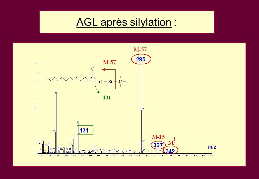 AGL après silylation :