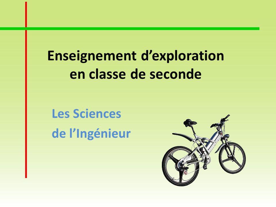 Les Sciences de lIngénieur Enseignement dexploration en classe de seconde