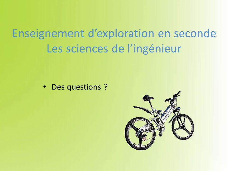 Enseignement dexploration en seconde Les sciences de lingénieur Des questions ?
