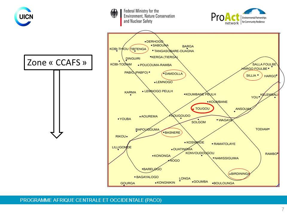 PROGRAMME AFRIQUE CENTRALE ET OCCIDENTALE (PACO) 7 Zone « CCAFS »
