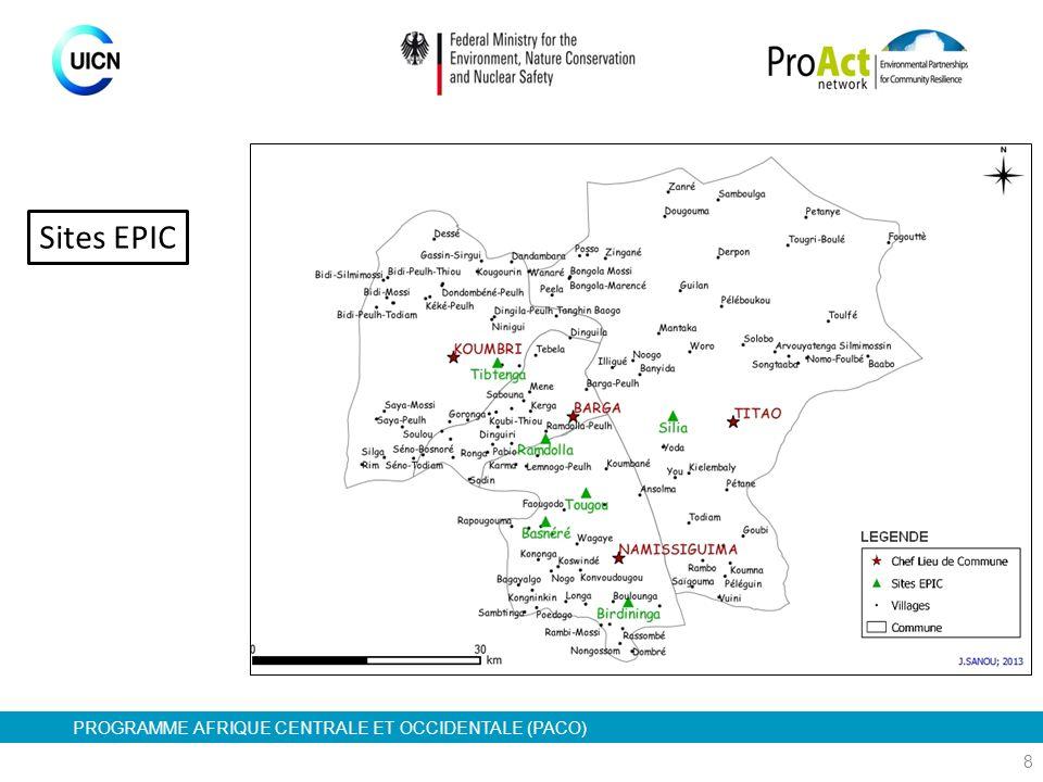 PROGRAMME AFRIQUE CENTRALE ET OCCIDENTALE (PACO) 8 Sites EPIC