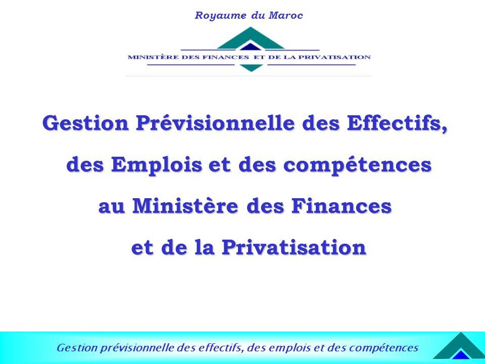 Gestion prévisionnelle des effectifs, des emplois et des compétences Royaume du Maroc Gestion Prévisionnelle des Effectifs, des Emplois et des compéte