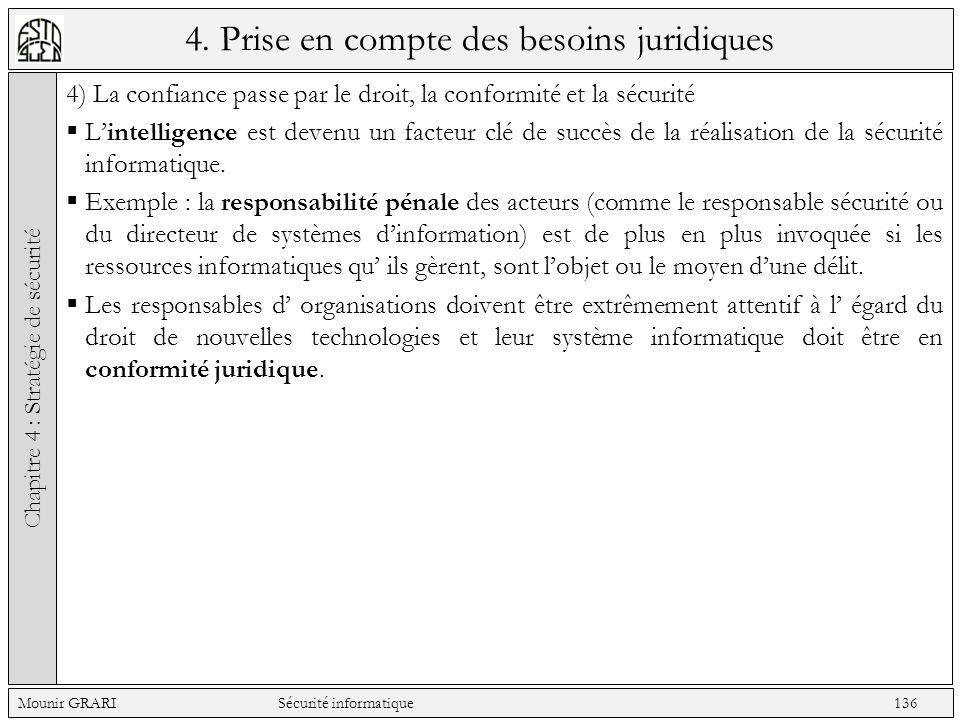 4. Prise en compte des besoins juridiques 4) La confiance passe par le droit, la conformité et la sécurité Lintelligence est devenu un facteur clé de