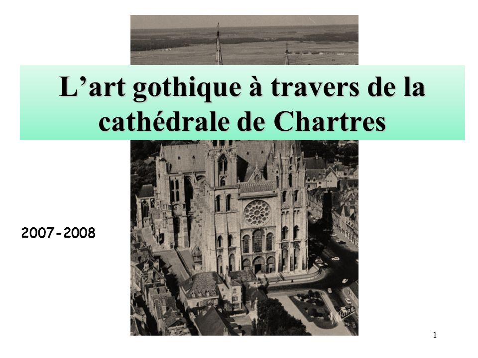 Lart gothique à travers de la cathédrale de Chartres 2007-2008 1