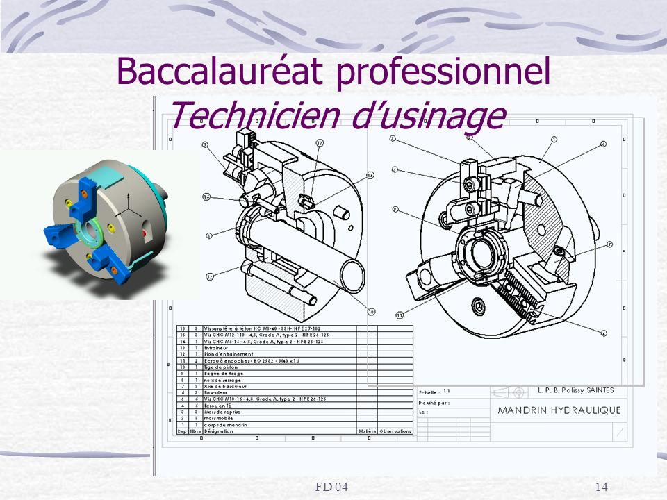 FD 0414 Baccalauréat professionnel Technicien dusinage