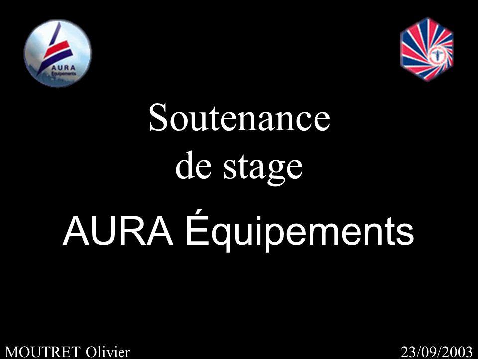 23/09/2003MOUTRET Olivier Soutenance de stage AURA Équipements