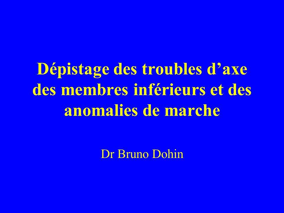 Dépistage des troubles daxe des membres inférieurs et des anomalies de marche Dr Bruno Dohin