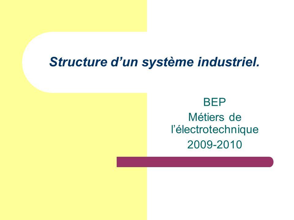 Structure dun système industriel. BEP Métiers de lélectrotechnique 2009-2010