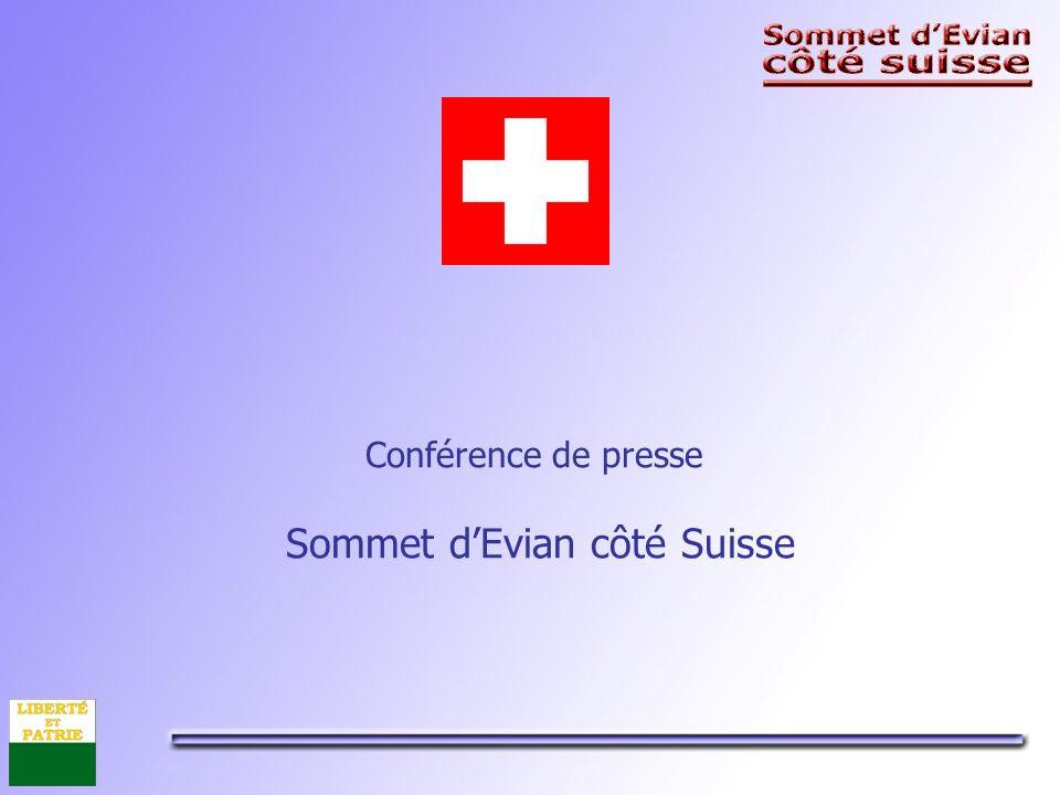 Conférence de presse Sommet dEvian côté Suisse