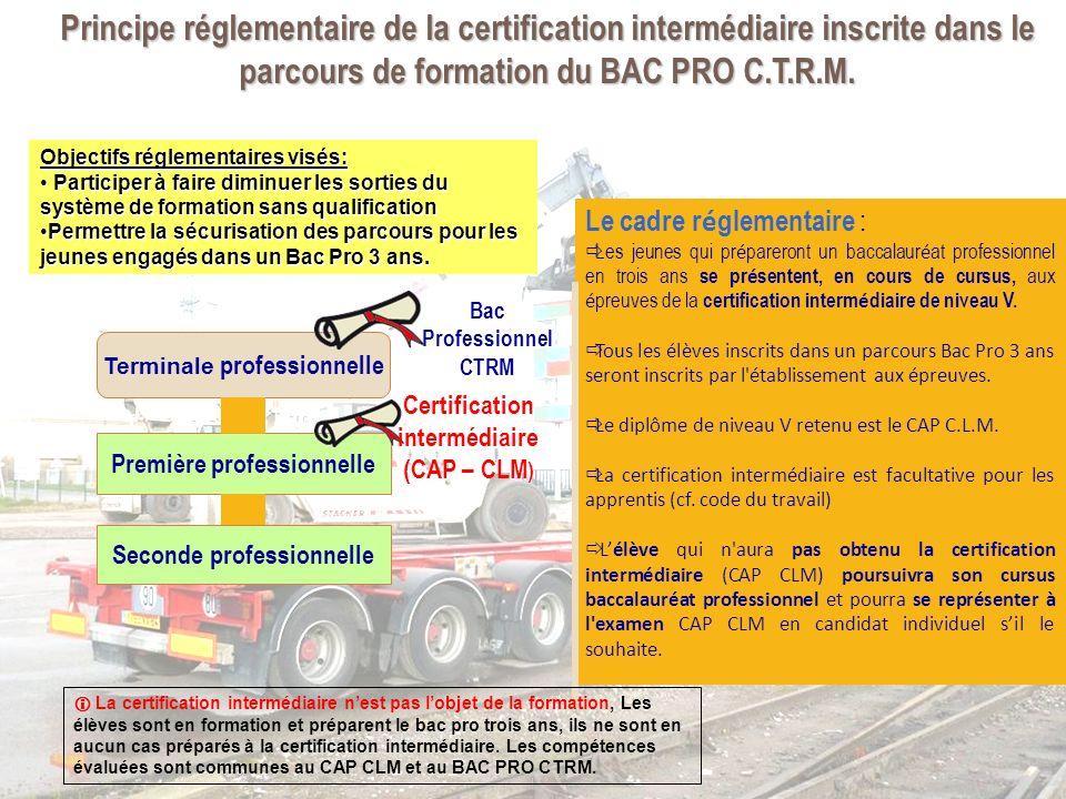 La certification intermédiaire CAP CLM prend appui sur les activités du baccalauréat professionnel.