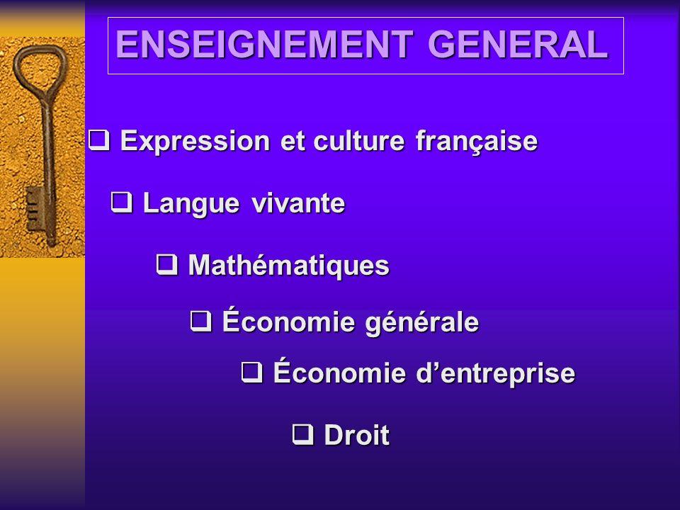L ENSEIGNEMENT « Une formation comptable de qualité »