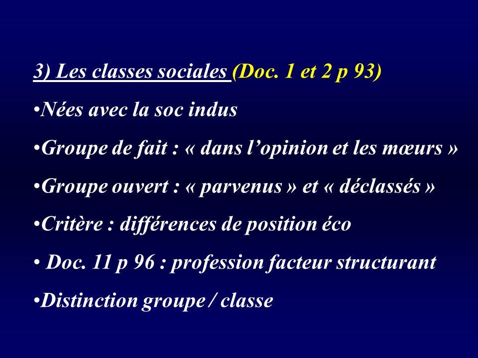 3) Les classes sociales (Doc.
