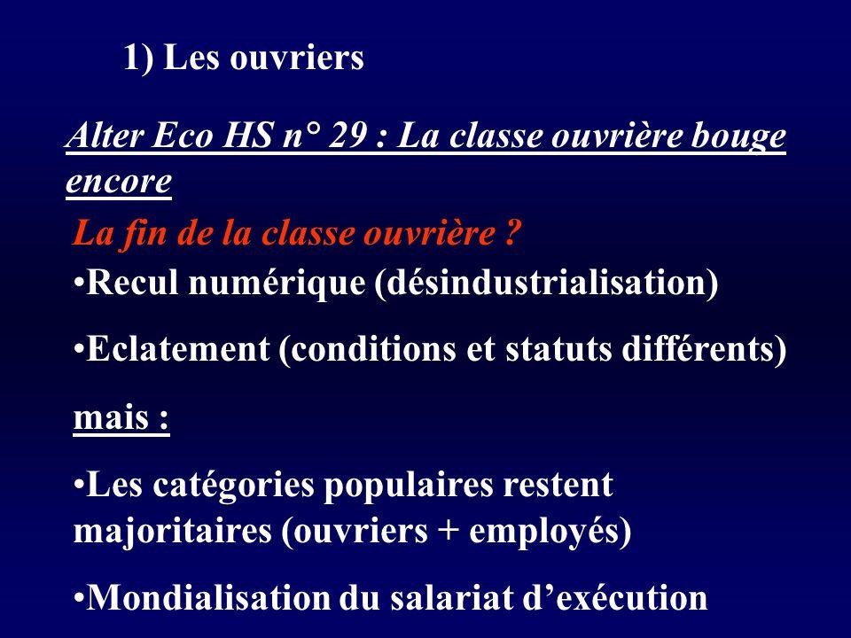 1) Les ouvriers Alter Eco HS n° 29 : La classe ouvrière bouge encore La fin de la classe ouvrière .