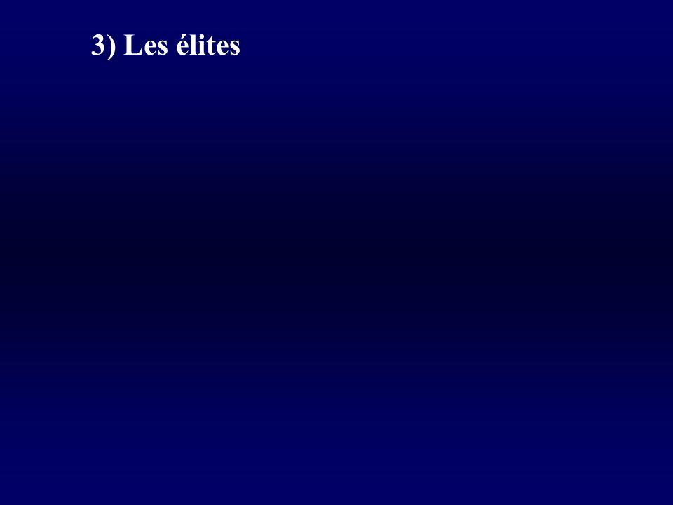 3) Les élites