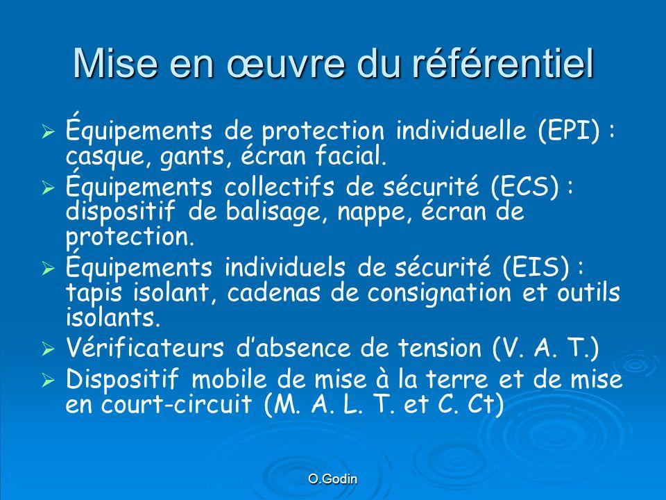 O.Godin Mise en œuvre du référentiel Équipements de protection individuelle (EPI) : casque, gants, écran facial.
