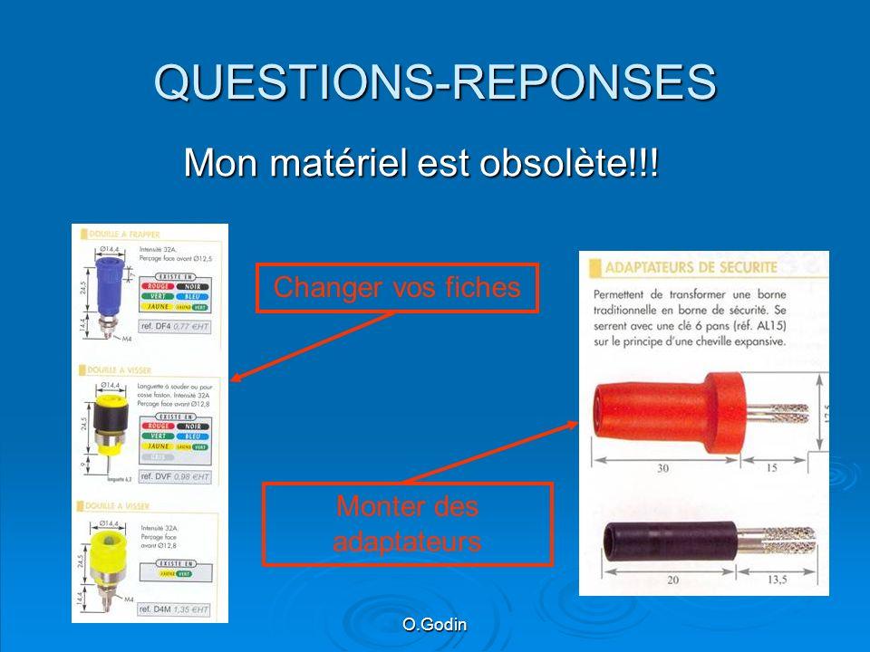 QUESTIONS-REPONSES Mon matériel est obsolète!!! Monter des adaptateurs Changer vos fiches