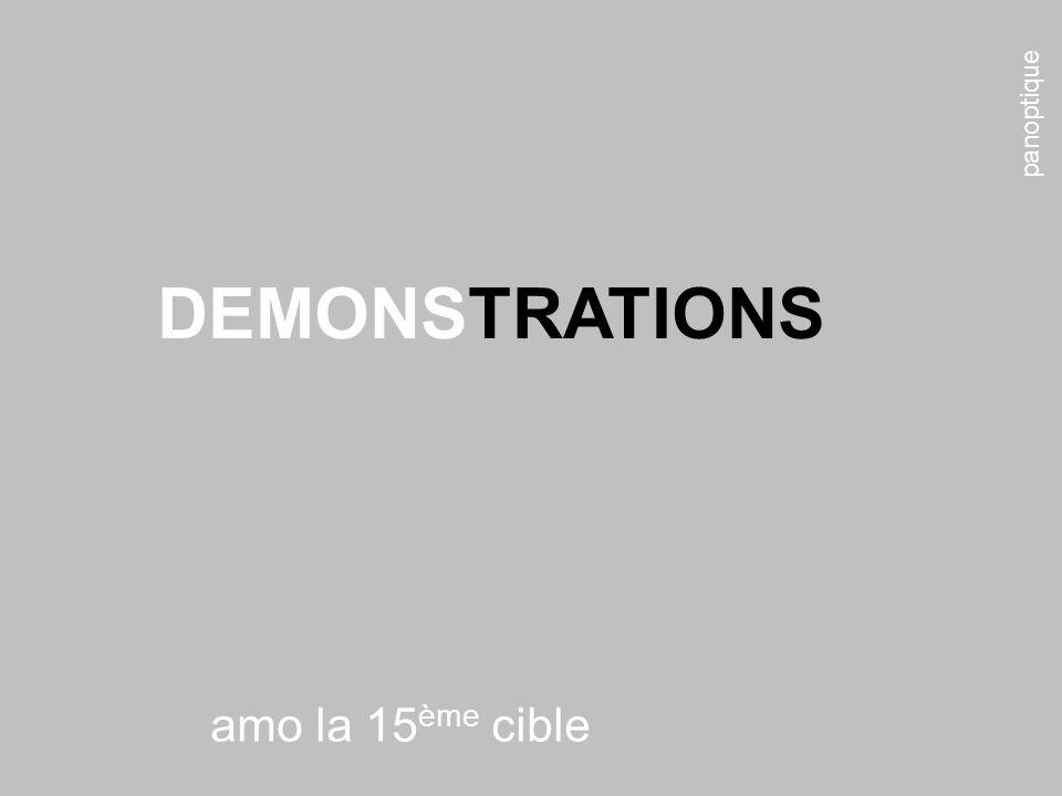 panoptique amo la 15 ème cible DEMONSTRATIONS