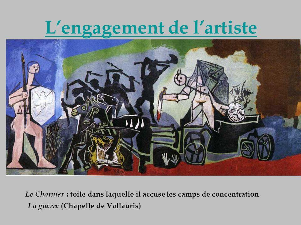 Lengagement de lartiste Guernica est devenu après la guerre un symbole de la Résistance. Au lendemain de la guerre, lengagement de Picasso ne sarrête