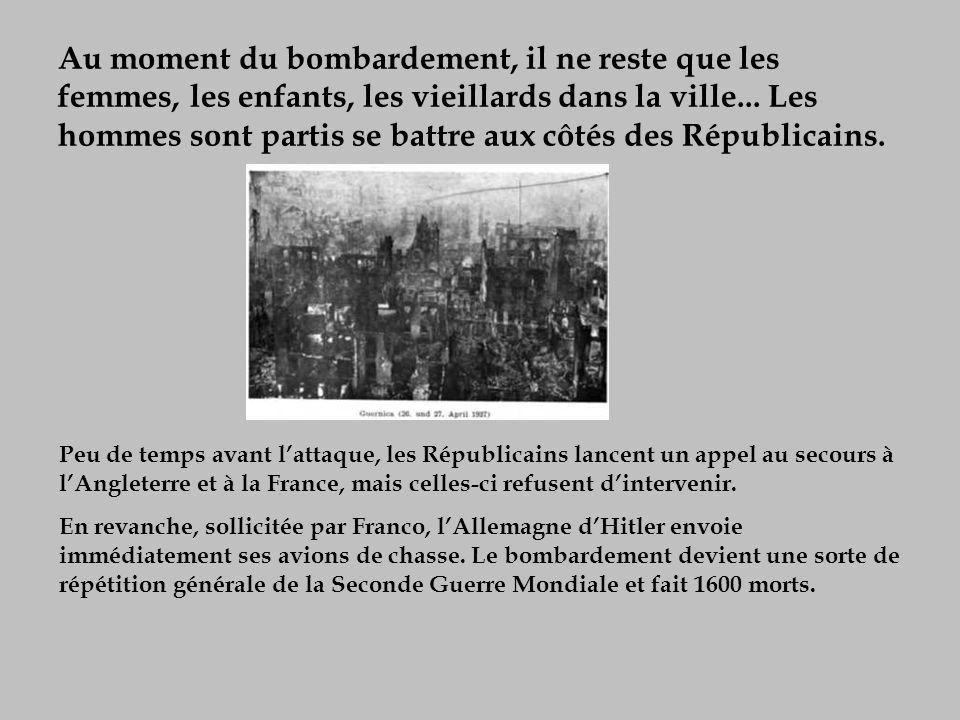 Quand il apprend le bombardement de Guernica, le lendemain, le 1 er mai 1937, à Paris, Picasso se précipite sur la presse.