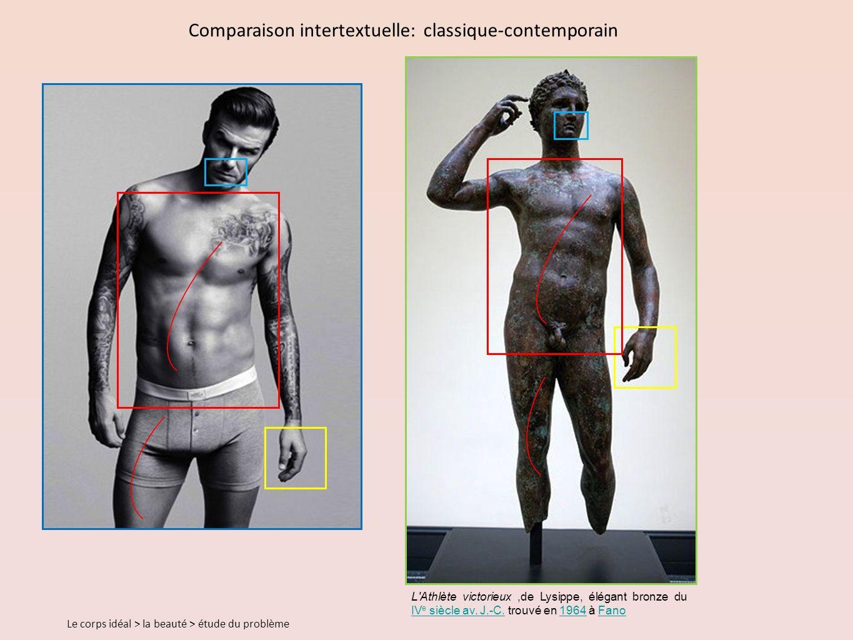 Comparaison intertextuelle: classique-contemporain L Athlète victorieux,de Lysippe, élégant bronze du IV e siècle av.