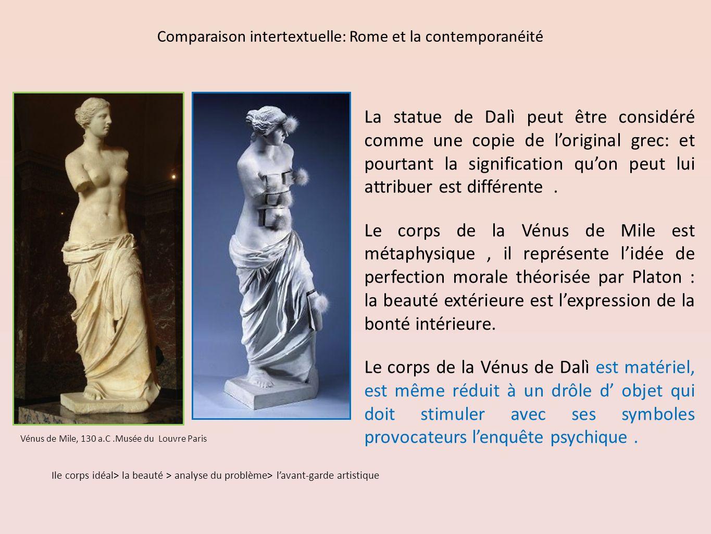 Vénus de Mile, 130 a.C.Musée du Louvre Paris La statue de Dalì peut être considéré comme une copie de loriginal grec: et pourtant la signification quon peut lui attribuer est différente.