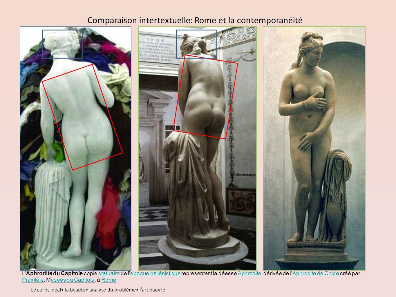 LAphrodite du Capitole copie statuaire de l époque hellénistique représentant la déesse Aphrodite, dérivée de l Aphrodite de Cnide créé par Praxitèle.