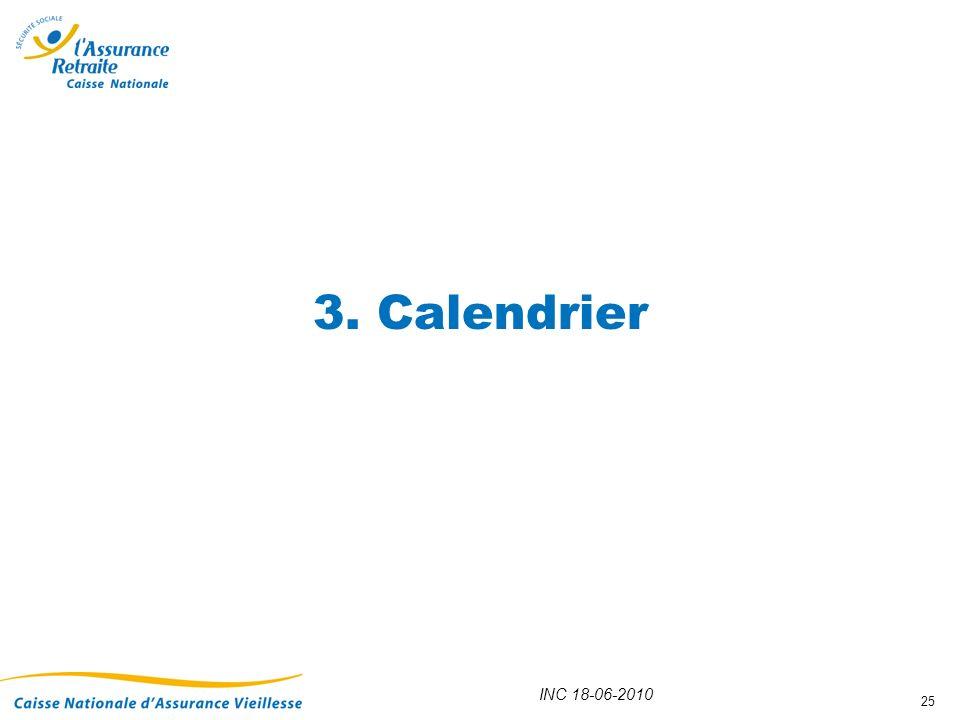 INC 18-06-2010 25 3. Calendrier