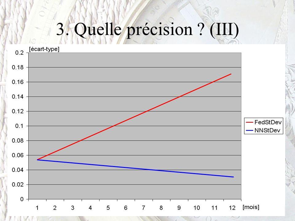 3. Quelle précision ? (III)