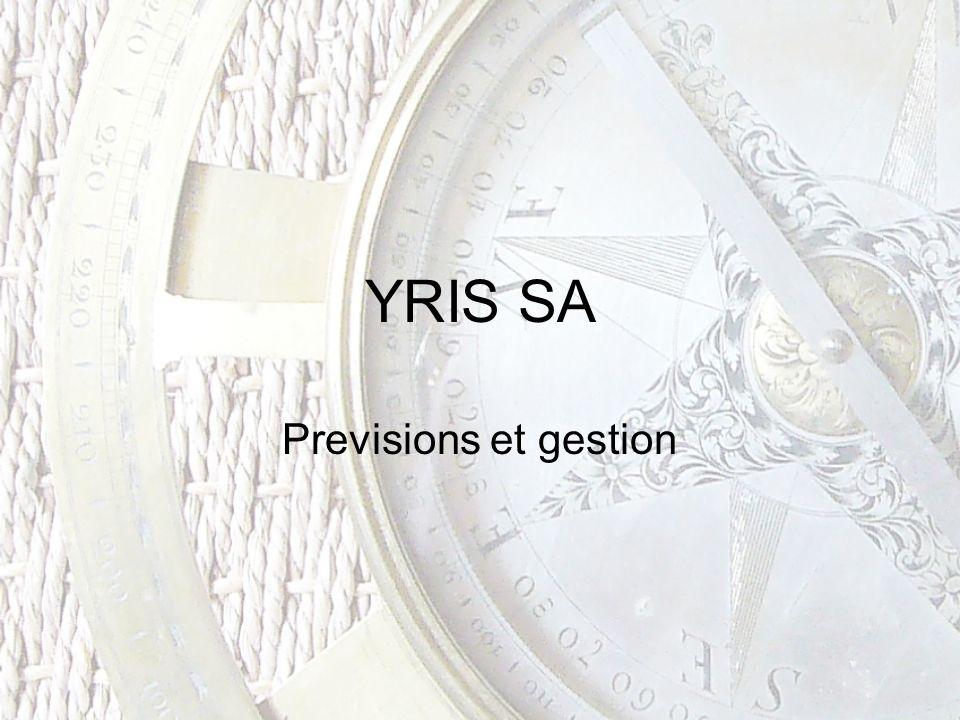 YRIS SA Previsions et gestion