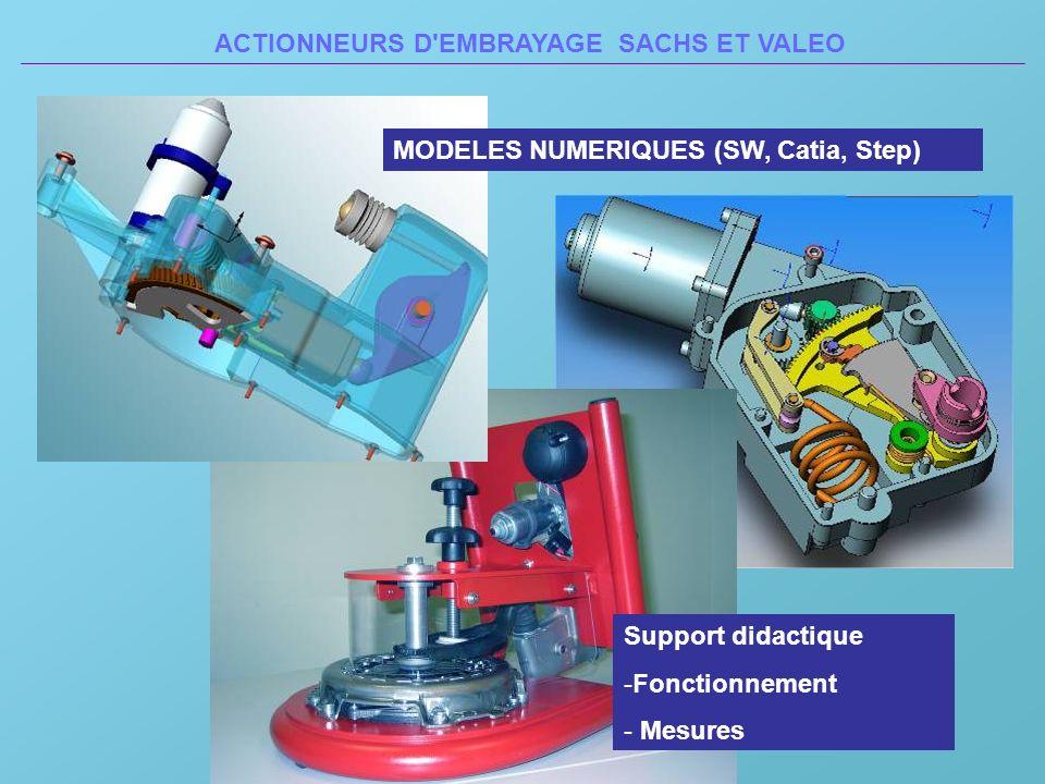 MODELES NUMERIQUES (SW, Catia, Step) Support didactique -Fonctionnement - Mesures