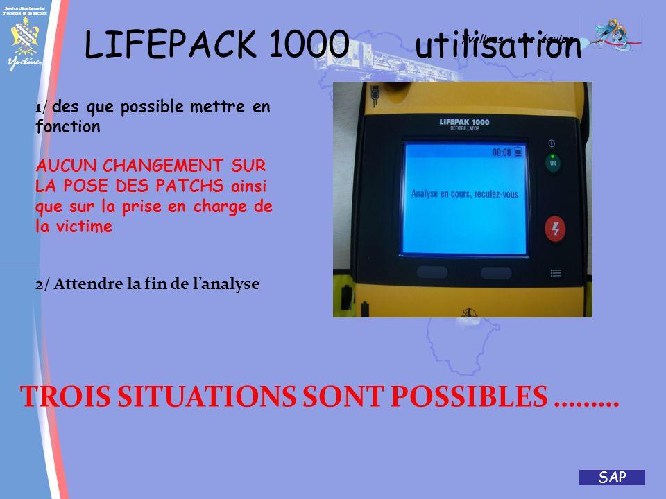 Service départemental d'incendie et de secours Yvelines : une équipe SAP LIFEPACK 1000 BATTERIE CETTE BATTERIE AU LITHIUM EST CONCUE POUR AVOIR UNE CA