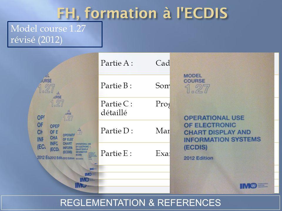 REGLEMENTATION & REFERENCES Model course 1.27 révisé (2012) Partie A :Cadre du cours Partie B :Sommaire du cours et horaires Partie C :Programme d'ens