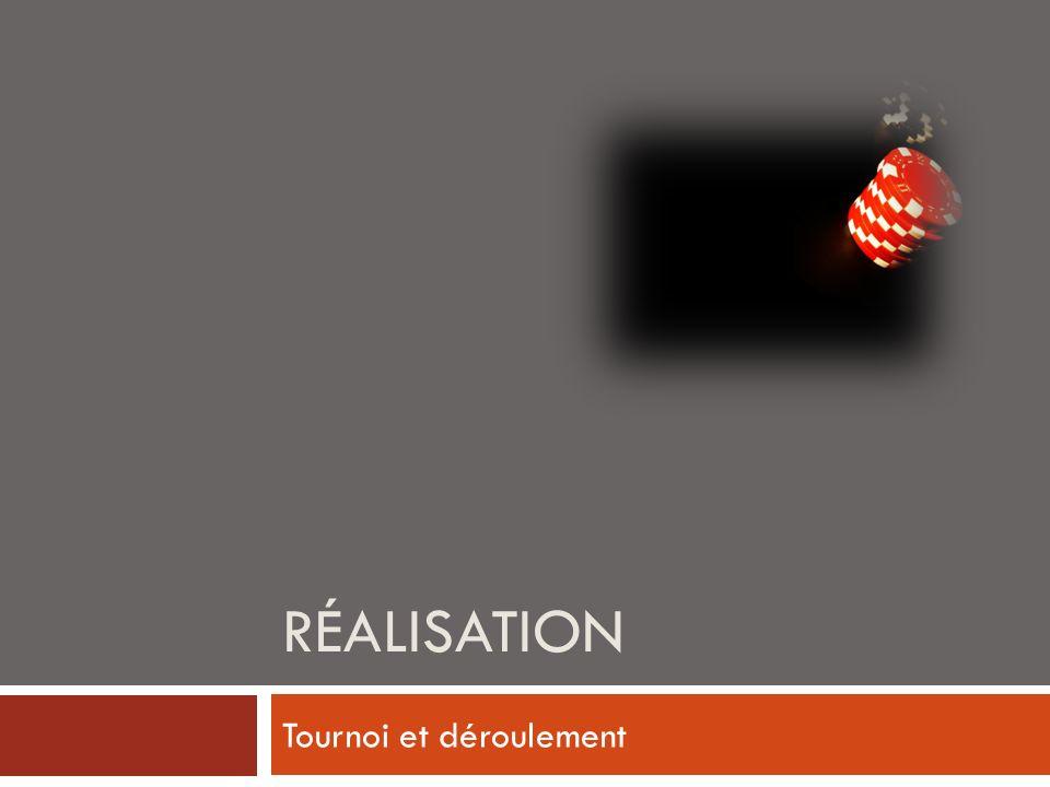 RÉALISATION Tournoi et déroulement