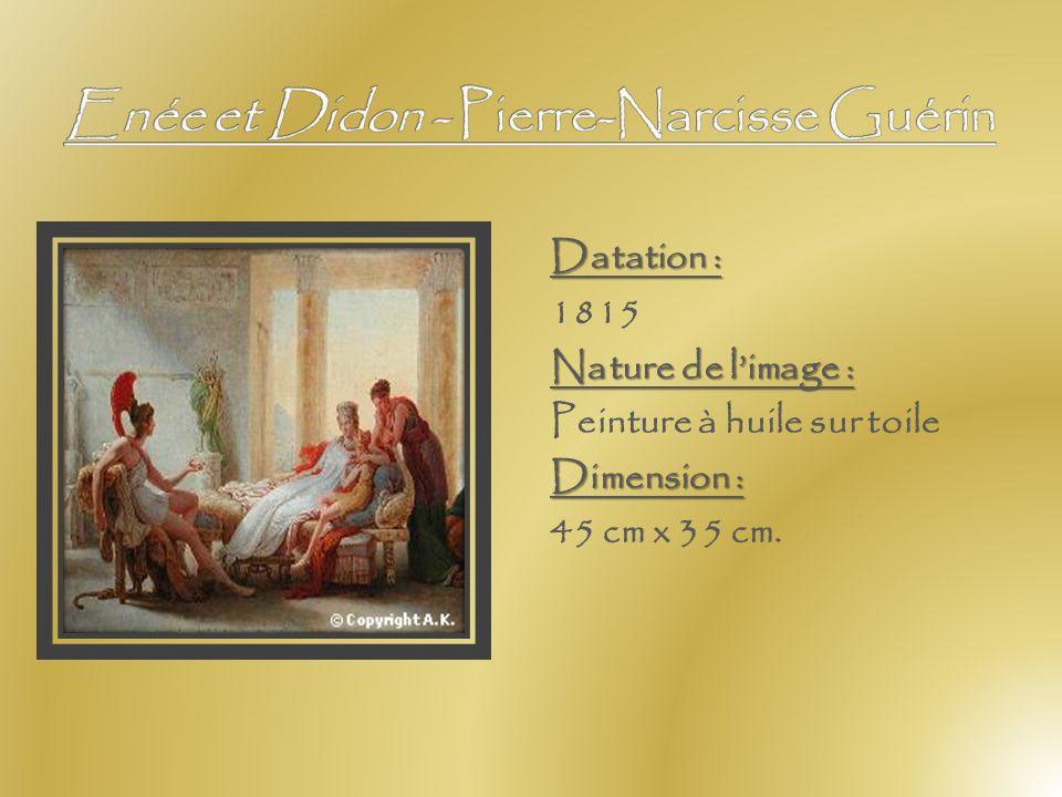 Nature de limage : huile sur toileDimension : 183 cm x 117 cm. Analyse de limage : Rubens représente Didon au moment où la reine désespérée de l'aband