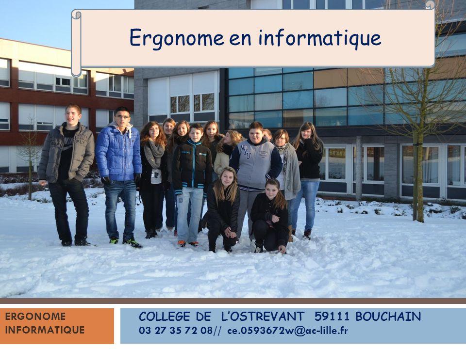 Les élèves de DP3, encadrés par monsieur Roszak, vous présentent le métier d… COLLEGE DE LOSTREVANT 59111 BOUCHAIN 03 27 35 72 08// ce.0593672w@ac-lil