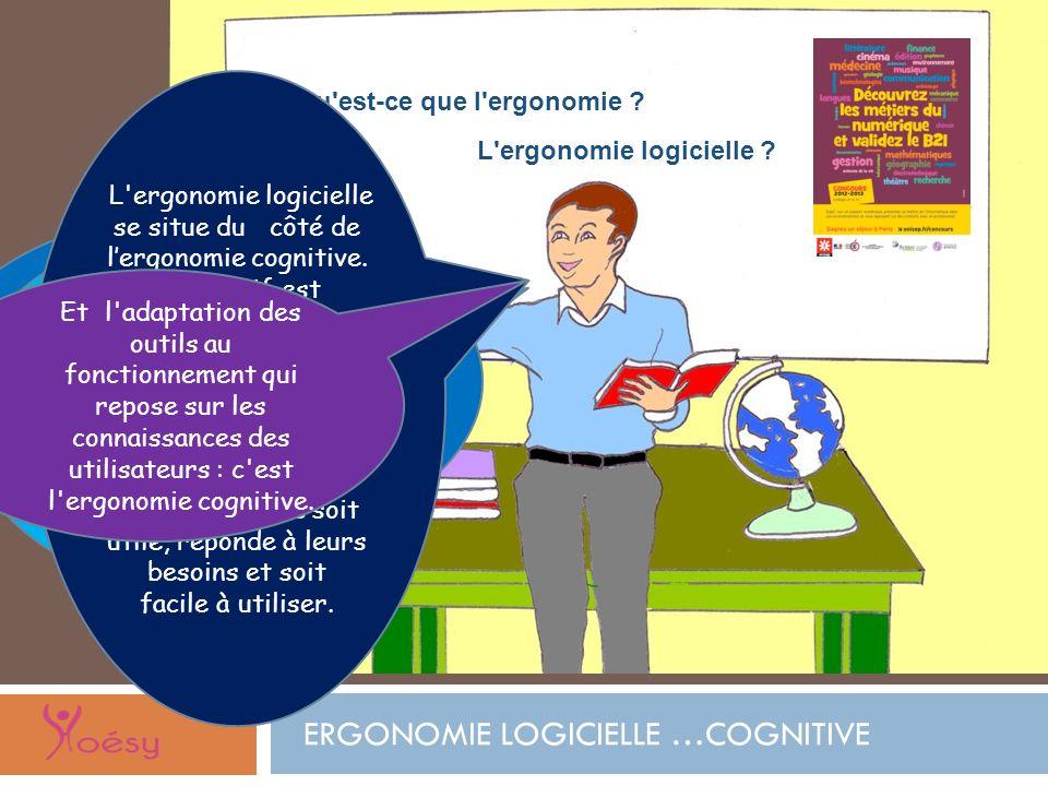 Qu'est-ce que l'ergonomie ? L'ergonomie s'intéresse à 2 grands domaines: ladaptation dun outil aux caractéristiques morphologiques de lêtre humain : c