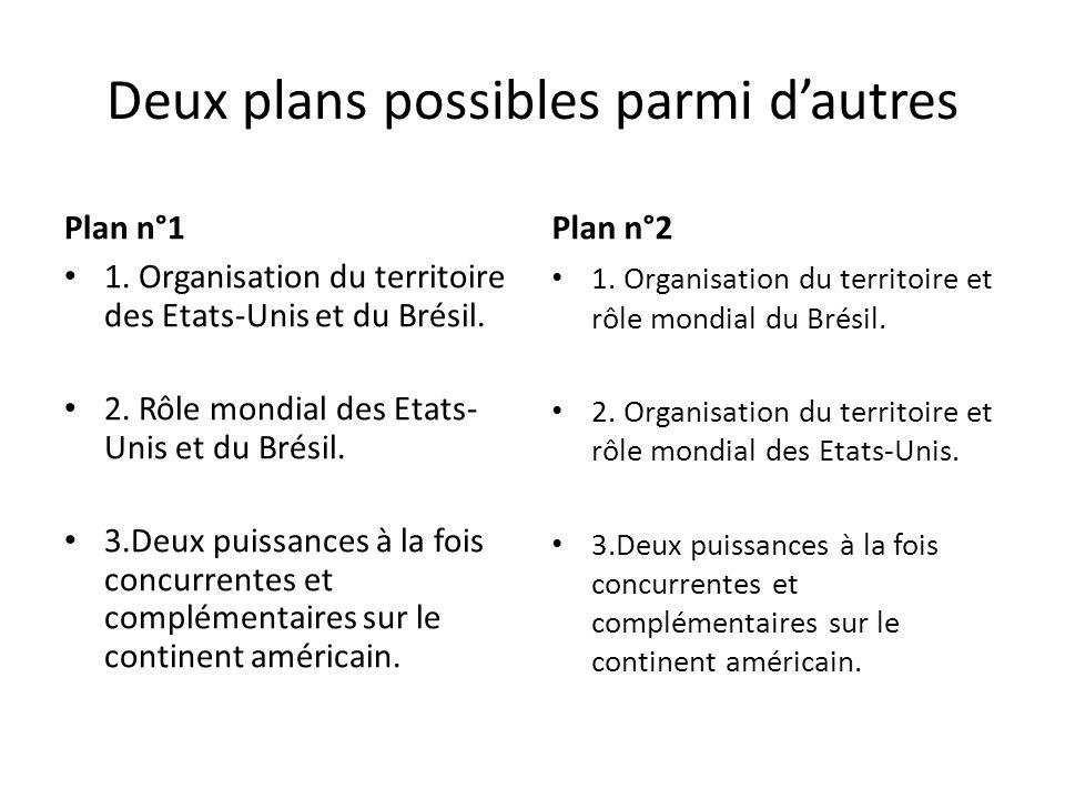 Deux plans possibles parmi dautres Plan n°1 1.