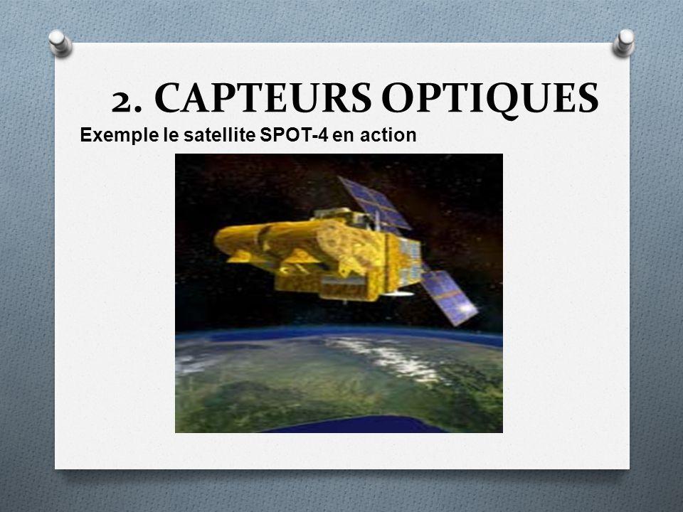 2. CAPTEURS OPTIQUES Exemple le satellite SPOT-4 en action
