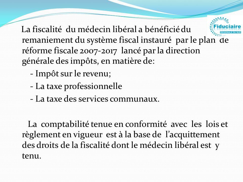 La fiscalité du médecin libéral a bénéficié du remaniement du système fiscal instauré par le plan de réforme fiscale 2007-2017 lancé par la direction