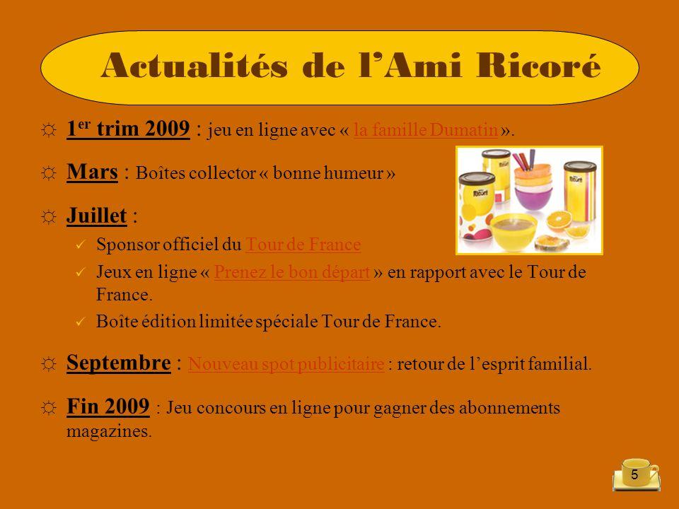 5 Actualités de lAmi Ricoré 1 er trim 2009 : jeu en ligne avec « la famille Dumatin ».la famille Dumatin Mars : Boîtes collector « bonne humeur » Juil
