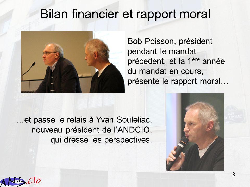 9 Bilan financier et rapport moral 3 axes : Refus du statu quo : les CIO tels quils sont, on nen veut plus.