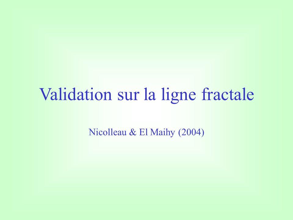 Validation sur la ligne fractale Nicolleau & El Maihy (2004)